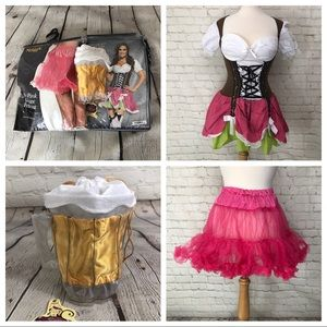 Halloween Costume Octoberfest Swiss Hottie NWT